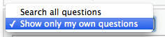 My own questions