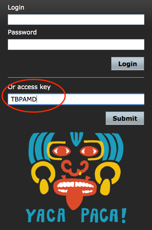 Student login with access key